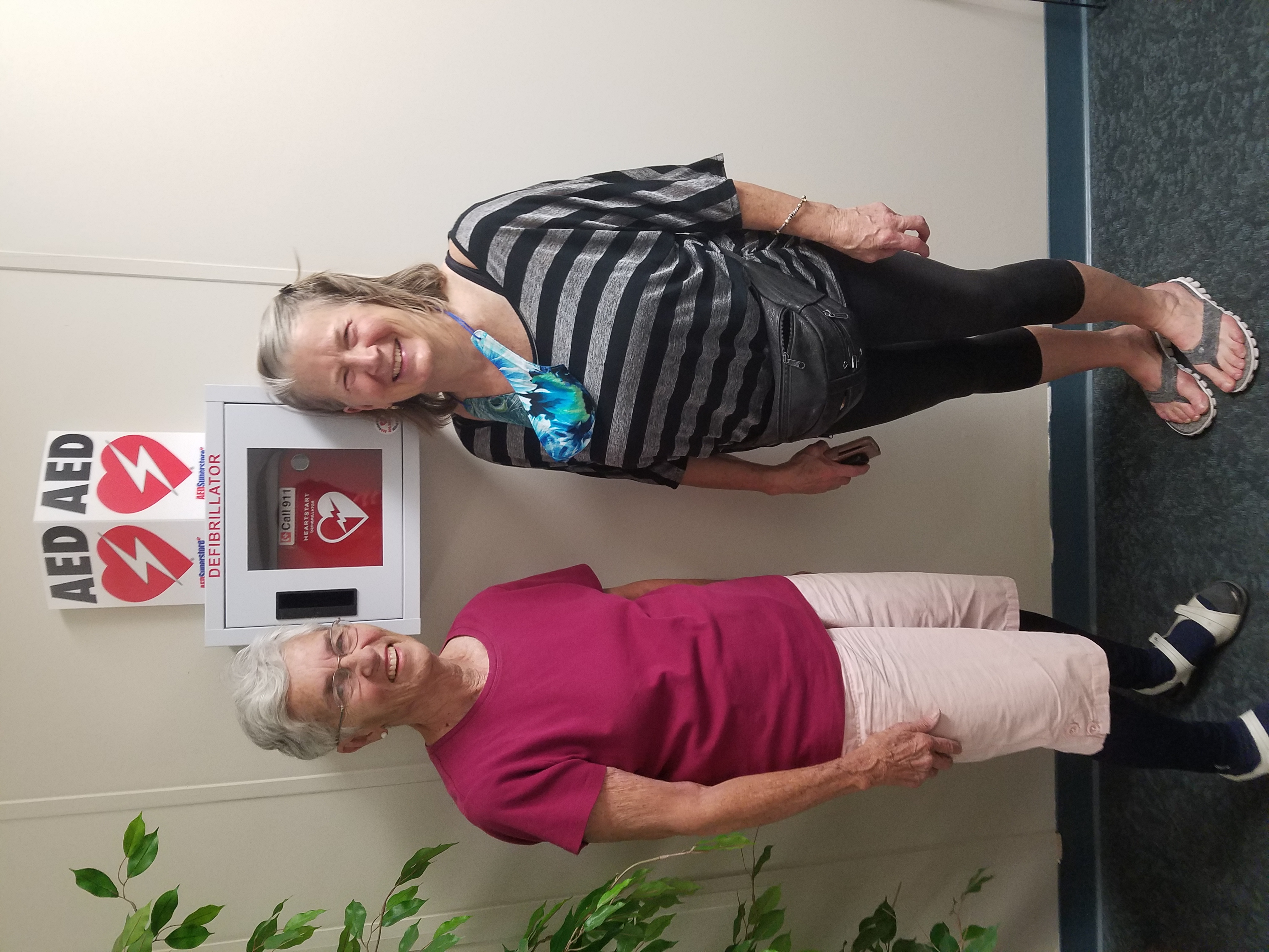 New AED Installed at the Tri-Lakes Senior Center